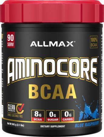 Image of Aminocore BCAA Blue Raspberry 90 Servings - Amino Acids & BCAAs Allmax Nutrition