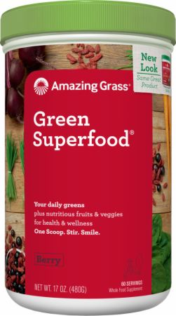 Image of Green Superfood Berry 60 Servings - Greens Amazing Grass