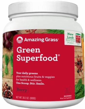 Image of Green Superfood Berry 100 Servings - Greens Amazing Grass