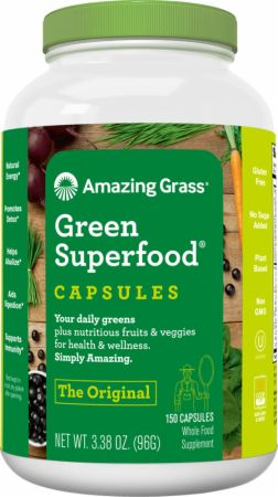 Image of Green SuperFood Capsules 150 Capsules - Digestive Health Amazing Grass