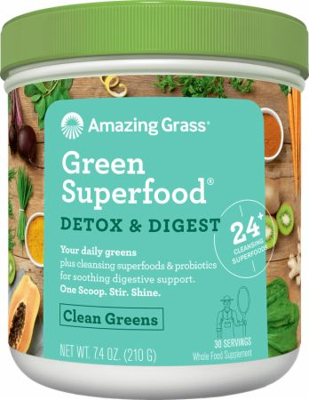 Image of Green Superfood Detox & Digest Original 30 Servings - Digestive Health Amazing Grass