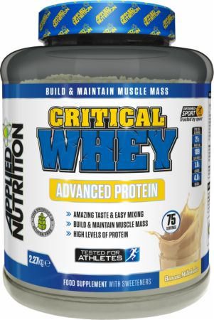 Image of Applied Nutrition Critical Whey 2.27 Kilograms Banana Milkshake
