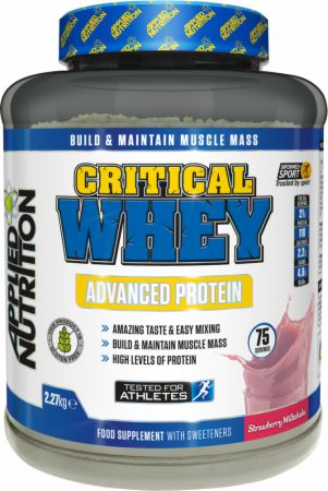 Image of Applied Nutrition Critical Whey 2.27 Kilograms Strawberry Milkshake