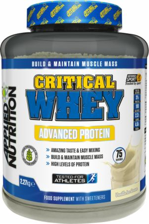 Image of Applied Nutrition Critical Whey 2.27 Kilograms Vanilla Ice Cream