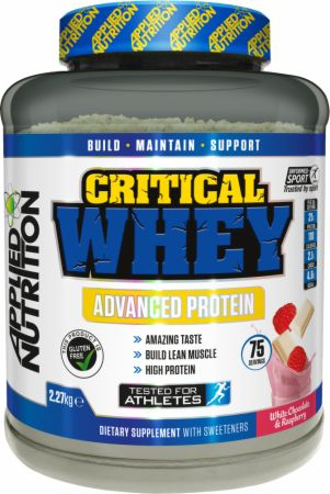 Image of Applied Nutrition Critical Whey 2.27 Kilograms White Chocolate & Raspberry