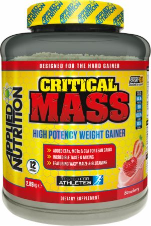 Image of Applied Nutrition Critical Mass 2.89 Kilograms Strawberry Milkshake