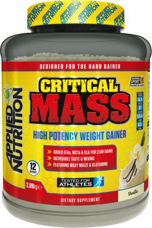 Image of Applied Nutrition Critical Mass 2.89 Kilograms Vanilla Milkshake