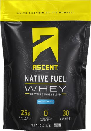 Image of Native Fuel Whey Protein Unflavored 2 Lbs. - Protein Powder Ascent