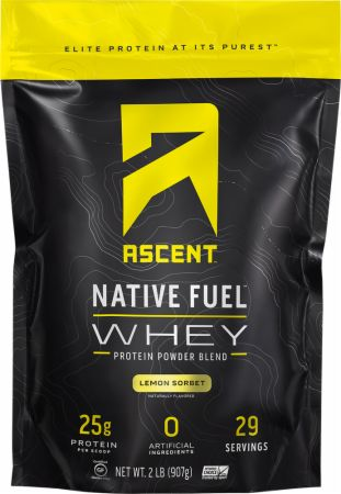 Image of Native Fuel Whey Protein Lemon Sorbet 2 Lbs. - Protein Powder Ascent