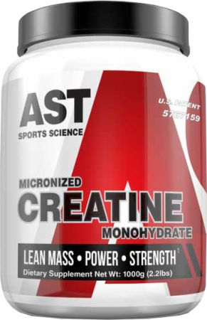 AST Micronized Creatine Unflavored 1000 Grams - Amino Acids & BCAAs