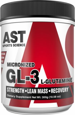 Image of GL3 L-Glutamine Unflavored 300 Grams - Post-Workout Recovery AST
