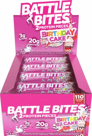 Image of Battle Oats Battle Bites 12 x 62g Bars Birthday Cake