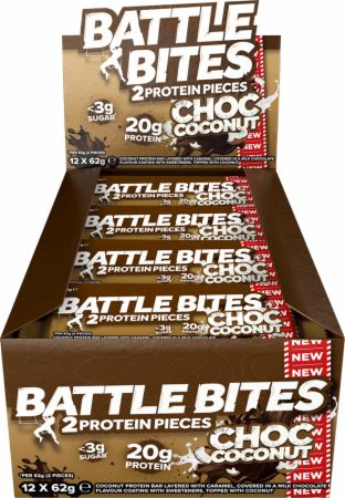 Image of Battle Oats Battle Bites 12 x 62g Bars Chocolate Coconut