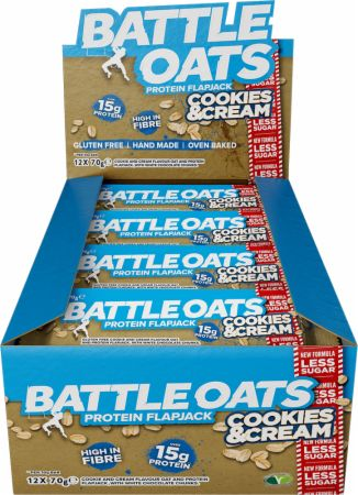 Image of Battle Oats Battle Oats Protein Flapjack 12 x 70g Flapjacks Cookies & Cream