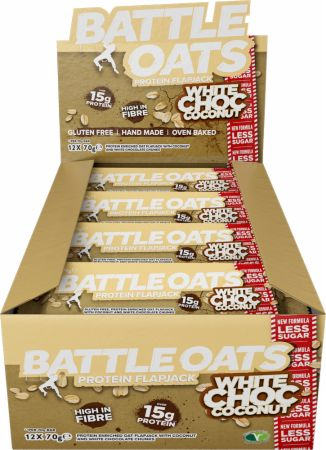 Image of Battle Oats Battle Oats Protein Flapjack 12 x 70g Flapjacks White Choc Coconut