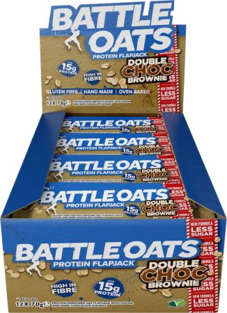 Image of Battle Oats Battle Oats Protein Flapjack 12 x 70g Flapjacks Double Choc Brownie