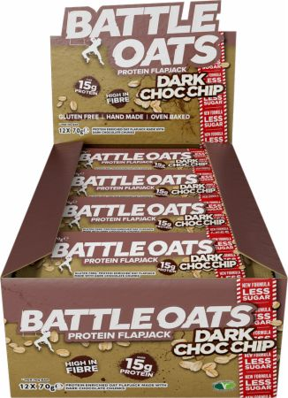 Image of Battle Oats Battle Oats Protein Flapjack 12 x 70g Flapjacks Dark Choc Chip