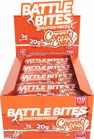 Image of Battle Oats Battle Bites 12 x 62g Bars Frosted Carrot Cake
