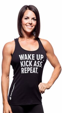 Women's Wake Up Kick Ass Repeat Tank