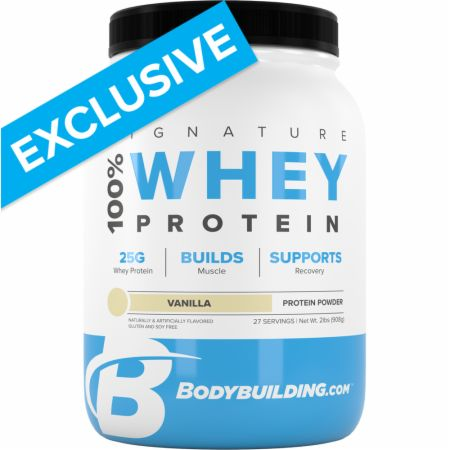 Image of Signature 100% Whey Protein Powder Vanilla 2 Lbs. - Protein Powder Bodybuilding.com Signature