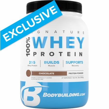 Image of Signature 100% Whey Protein Powder Chocolate 2 Lbs. - Protein Powder Bodybuilding.com Signature