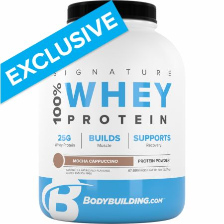 Image of Signature 100% Whey Protein Powder Mocha Cappuccino 5 Lbs. - Protein Powder Bodybuilding.com Signature