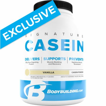 Image of Signature Casein Vanilla 4 Lbs. - Protein Powder Bodybuilding.com Signature