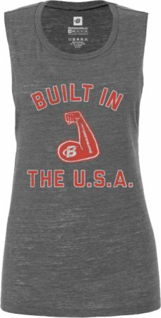 Women's Built In The USA Flowy Muscle Tank