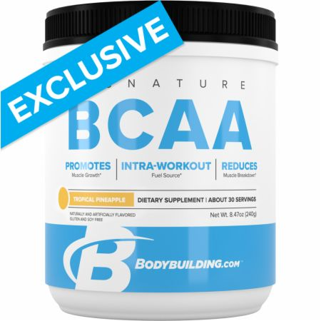 Image of Signature BCAA Tropical Pineapple 30 Servings - Amino Acids & BCAAs Bodybuilding.com Signature