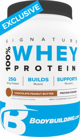 Image of Signature 100% Whey Protein Powder Chocolate Peanut Butter 2 Lbs. - Protein Powder Bodybuilding.com Signature