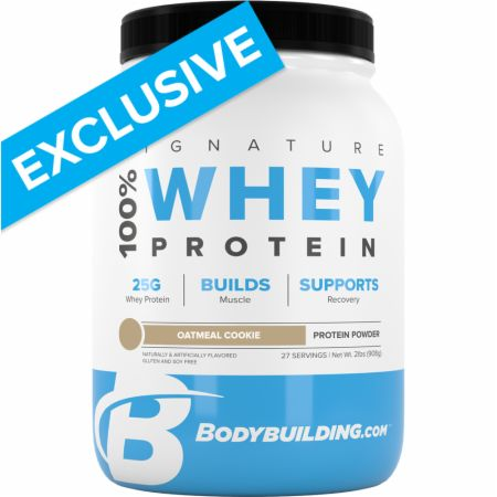 Image of Signature 100% Whey Protein Powder Oatmeal Cookie 2 Lbs. - Protein Powder Bodybuilding.com Signature