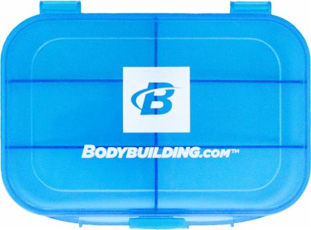 Compact Pill Organizer Blue 5.5 x 4 x 1.5 Inches - Pill Boxes & Supplement Organizers Bodybuilding.com Accessories