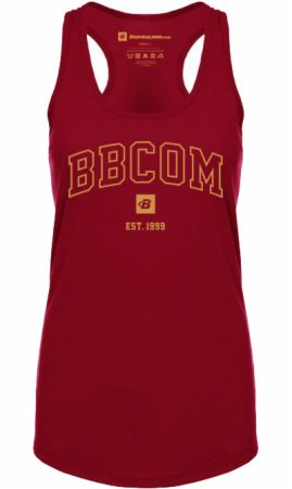 Est. 1999 Women's Campus Racerback Tank Cardinal L - Women's Tank Tops Bodybuilding.com Clothing Bodybuilding.com Clothing Est. 1999 Women's Campus Racerback Tank Cardinal L  - Breathable, Premium Tri-blend Fabric Supports Intense Exercise
