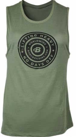 Women's Lifting Heavy Graphic Tank Top Military Green Large - Women's Tank Tops Bodybuilding.com Clothing Bodybuilding.com Clothing Women's Lifting Heavy Graphic Tank Top Military Green Large  - 100% cotton with a breathable, next-to-skin fit to wick sweat, minimal hem