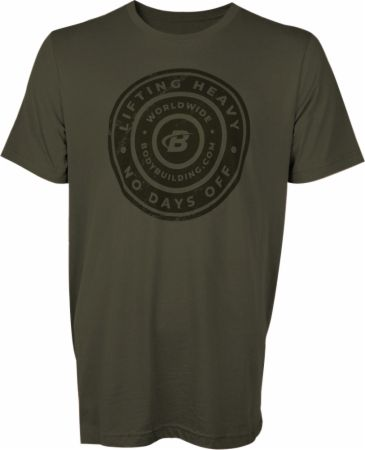Men's Lifting Heavy Graphic T-Shirt Dark Olive Small - Men's T-Shirts Bodybuilding.com Clothing Bodybuilding.com Clothing Men's Lifting Heavy Graphic T-Shirt Dark Olive Small  - Breathable, next-to-skin fit, made of 100% cotton & helps wick sweat