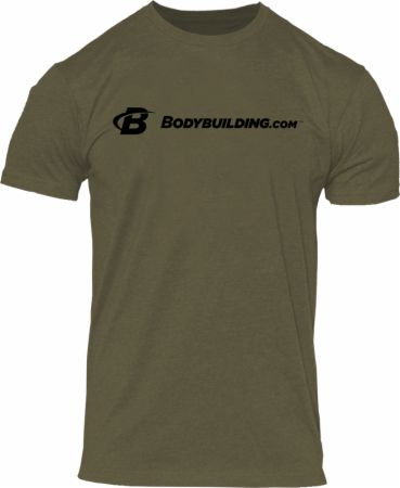 Simple Classic Tee Heather Olive Medium - Men's T-Shirts Bodybuilding.com Clothing Bodybuilding.com Clothing Simple Classic Tee Heather Olive Medium  - Looks Good With Anything From Gym Shorts To Jeans!