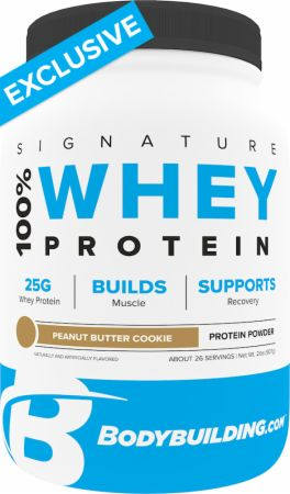 Image of Signature 100% Whey Protein Powder Peanut Butter Cookie 2 Lbs. - Protein Powder Bodybuilding.com Signature