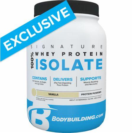 Image of Signature 100% Whey Isolate Vanilla 1.6 Lbs. - Protein Powder Bodybuilding.com Signature
