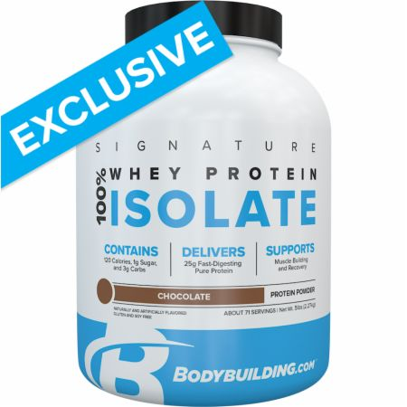Image of Signature 100% Whey Isolate Chocolate 5 Lbs. - Protein Powder Bodybuilding.com Signature