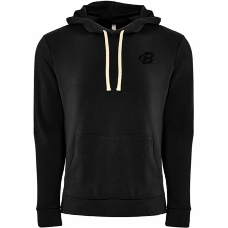 Image of B Logo Fleece Pullover Hoodie Black Medium - Men's Hoodies & Sweatshirts Bodybuilding.com Clothing