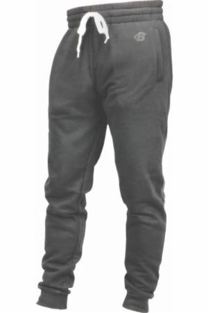 Image of B Logo Fleece Lounge Joggers Charcoal Medium - Men's Joggers & Sweatpants Bodybuilding.com Clothing