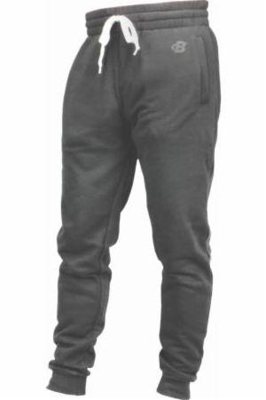 Image of B Logo Fleece Lounge Joggers Charcoal Small - Men's Joggers & Sweatpants Bodybuilding.com Clothing