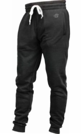 Image of B Logo Fleece Lounge Joggers Black XL - Men's Joggers & Sweatpants Bodybuilding.com Clothing