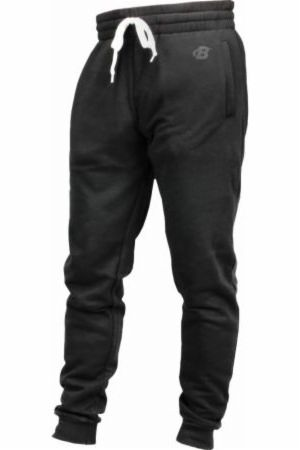 Image of B Logo Fleece Lounge Joggers Black Large - Men's Joggers & Sweatpants Bodybuilding.com Clothing