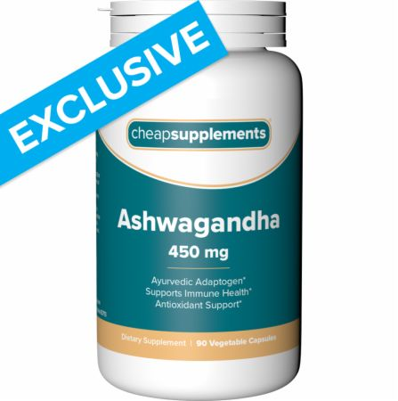Image of Ashwagandha - 90 Vcaps 90 Vcaps - Stress Reduction Cheap Supplements
