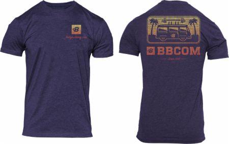 Image of BBCOM Beach Bus Tee Storm Heather Medium - Men's T-Shirts Bodybuilding.com Clothing