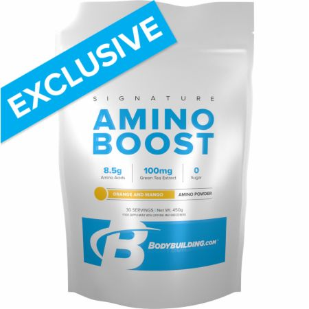 Image of Bodybuilding.com Signature Signature Amino Boost 450 Grams Orange and Mango
