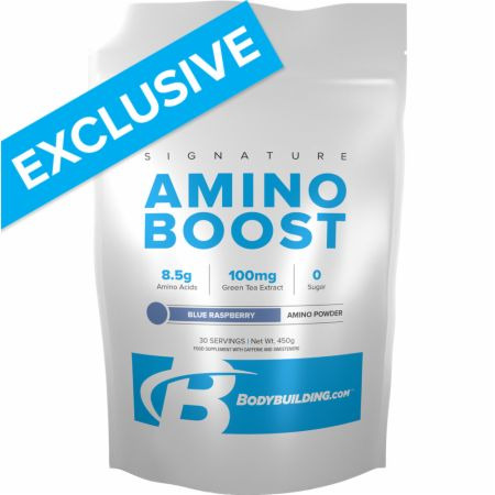 Image of Bodybuilding.com Signature Signature Amino Boost 450 Grams Blue Raspberry