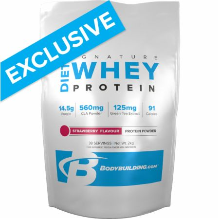 Image of Bodybuilding.com Signature Signature Diet Whey Protein 2 Kilograms Strawberry