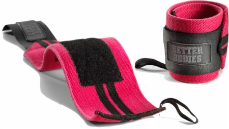 Image of Better Bodies Women's Wrist Wraps Hot Pink